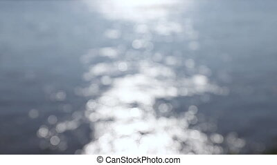 sunlight reflection on water surface
