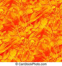 sunlight seamless texture color watercolour orange flower...