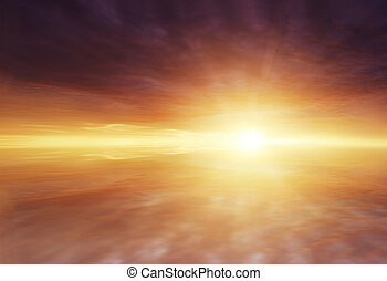 Sunlight - Sun rays shining brightly in clouds