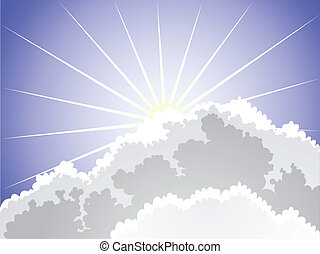 Sunlight - rays of the sun breaking through clouds