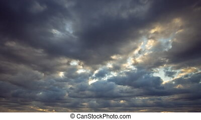 sunlit morning clouds: timelapse