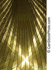Sunlit Pattern Resembling Stained Glass of a Military...