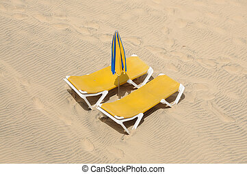Sunlounger on the beach
