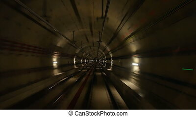 Sunnel motion train speed - Ride through a subway tunnel...