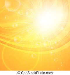 Sunny abstract background. Hello spring, summer