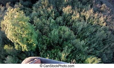Sunny aerial landscape. - Sunny aerial landscape from board...