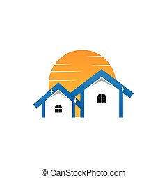 Sunny and clean real estate logo