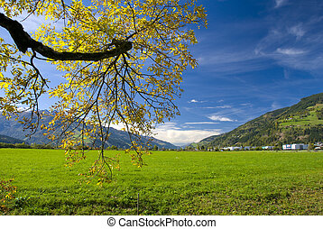 Sunny autumn day in Austria