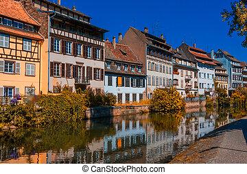 Sunny autumn day in Strasbourg