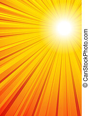 The background has a complete circle of Sun Rays in the Vector file for you to position the clipping Mask as you want
