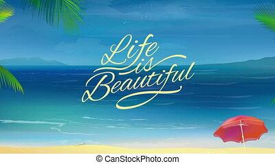 Sunny Beach Background