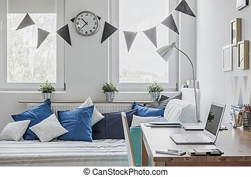 Sunny bedroom for boy