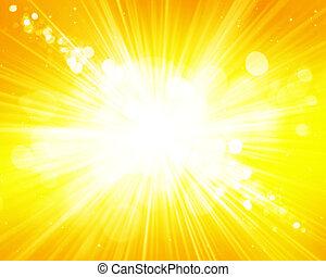 Sunny blurred bokeh background