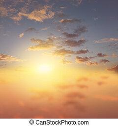 Sunny bright sky