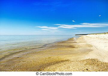 Sunny coast of Baltic sea