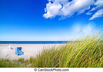 sunny day at the baltic sea, usedom