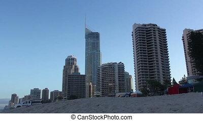 Sunny day at the beach, Gold Coast, Australia.