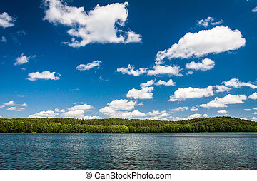 Sunny day at the lake in national park