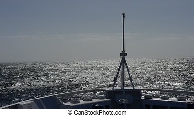 Sunny day in Drake Passage, travel to Antarctica