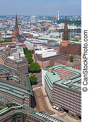 Sunny day in Hamburg