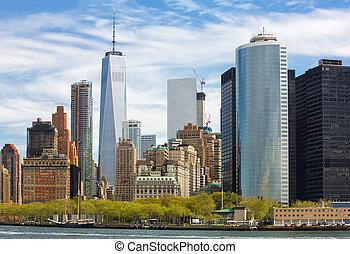 Manhattan skyline in NYC