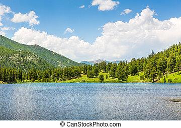 Sunny day in Rocky Mountain National Park, Colorado USA