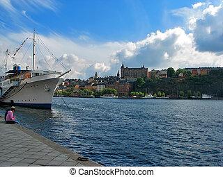 Sunny day in Stockholm