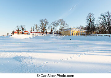Sunny day in the park. Russia