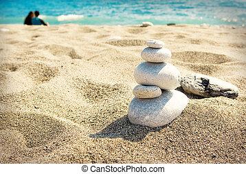Sunny day on a sandy beach
