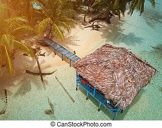 Sunny day on caribbean beach