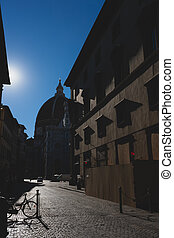 Sunny day on the streets of Florence