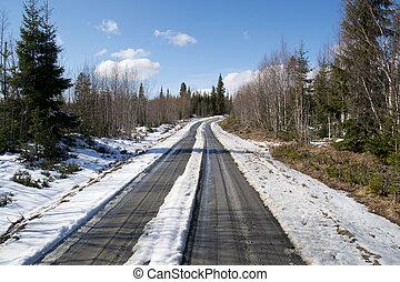 small muddy road