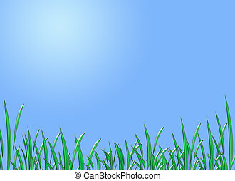 Spring time day, sunny day illustration