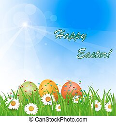 sunny Easter background