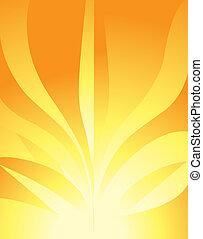 Sunny Flower fractals. Abstract. Digital illustration....