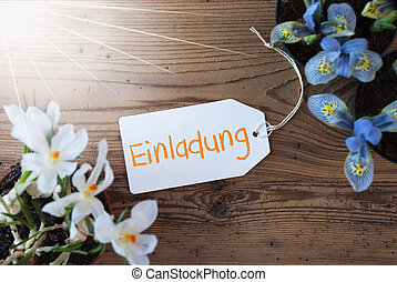 Sunny Flowers, Label, Einladung Means Invitation - Sunny...
