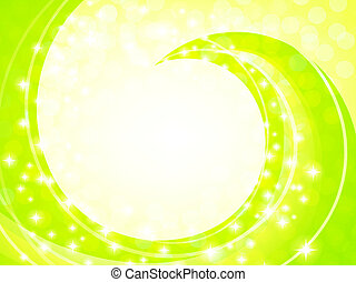 sunny frame - shiny abstract frame with copyspace in light...