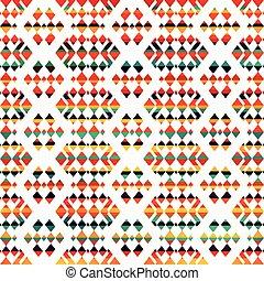 sunny geometric seamless pattern