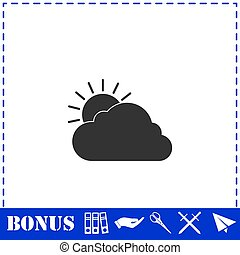 Sunny icon flat