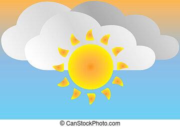 Icon sunny weather