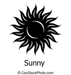 Sunny icon, simple style - Sunny icon. Simple illustration ...