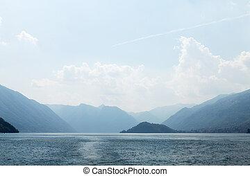 Sunny Lake Como landscape