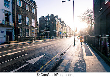 Sunny morning on the streets of old London