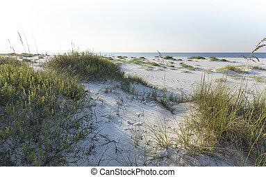 Sunny Morning Pensacola Beach - Pristine white sand dunes...