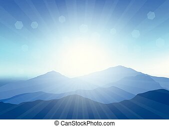sunny mountain landscape 2907