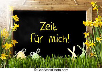 Sunny Narcissus, Egg, Zeit Fuer Mich Means Time For Me -...
