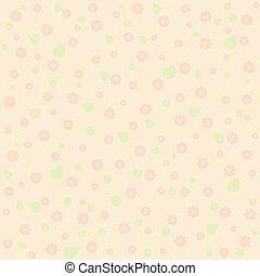 sunny pastel floral pattern