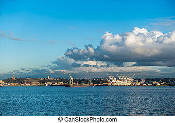 Sunny Port of Seattle