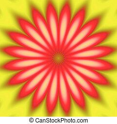 sunny red flower