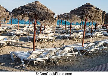 Sunny resort beach